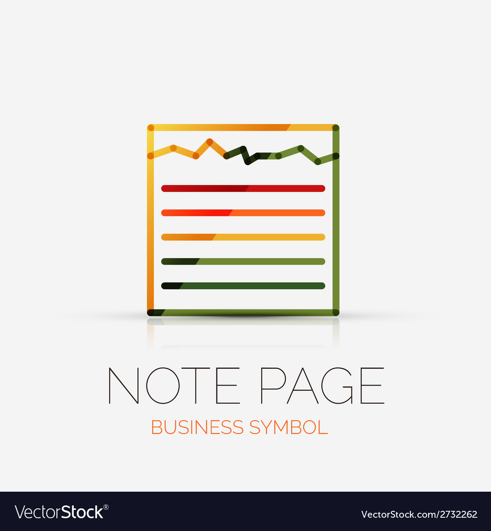 Note page company logo business concept vector | Price: 1 Credit (USD $1)