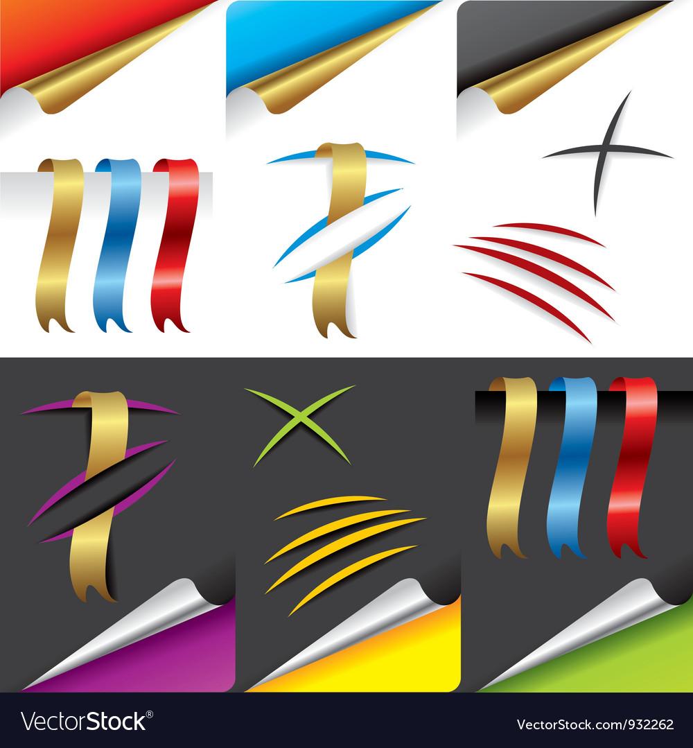 Paper design elements vector   Price: 1 Credit (USD $1)