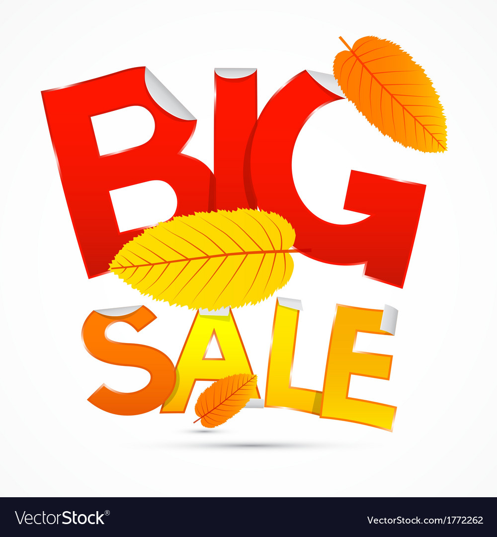 Red and orange big sale sticker - label with vector | Price: 1 Credit (USD $1)