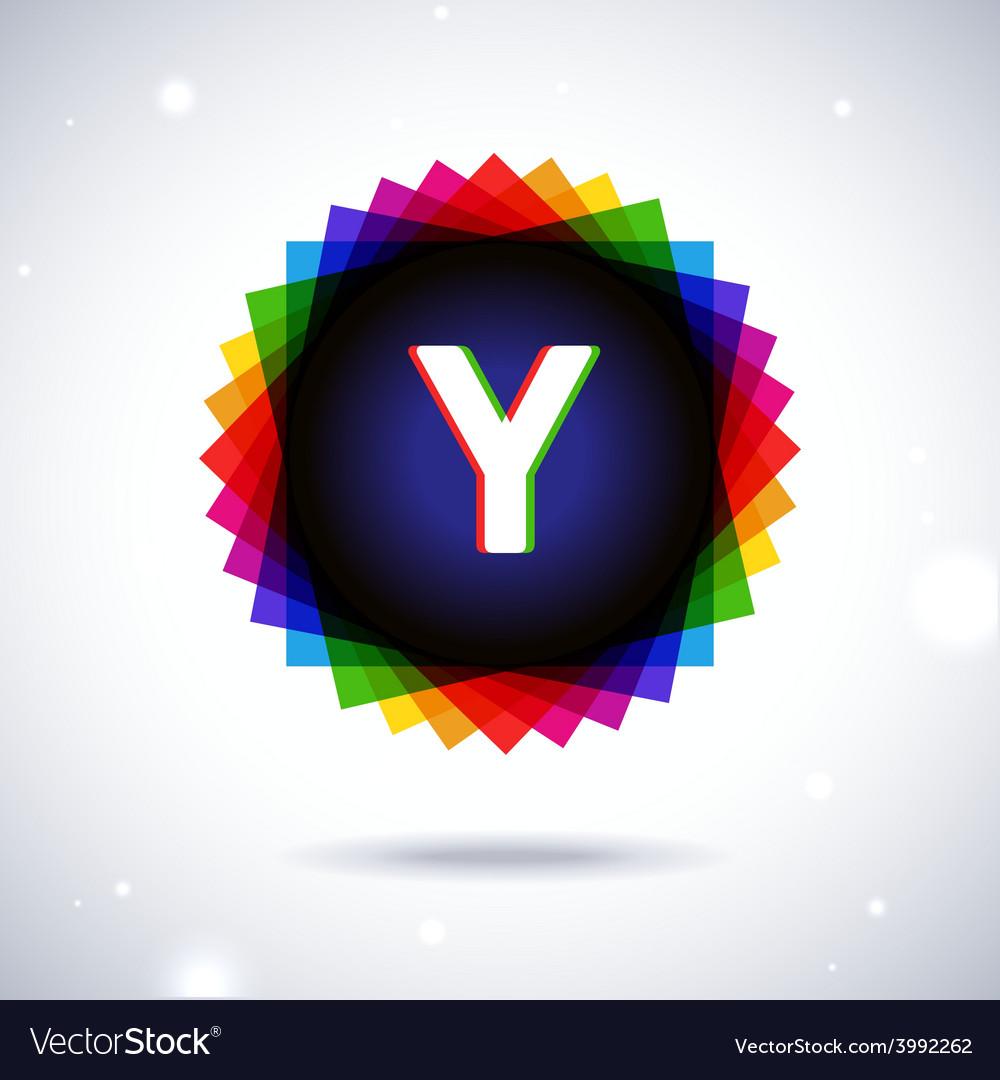 Spectrum logo icon letter y vector | Price: 1 Credit (USD $1)