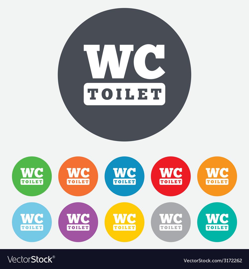 Wc toilet sign icon restroom symbol vector   Price: 1 Credit (USD $1)