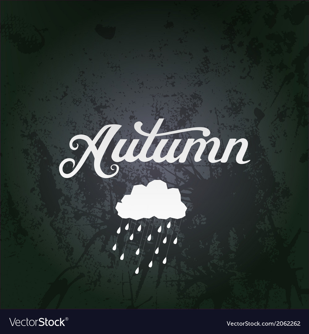 With autumn watercolor lettering a vector | Price: 1 Credit (USD $1)