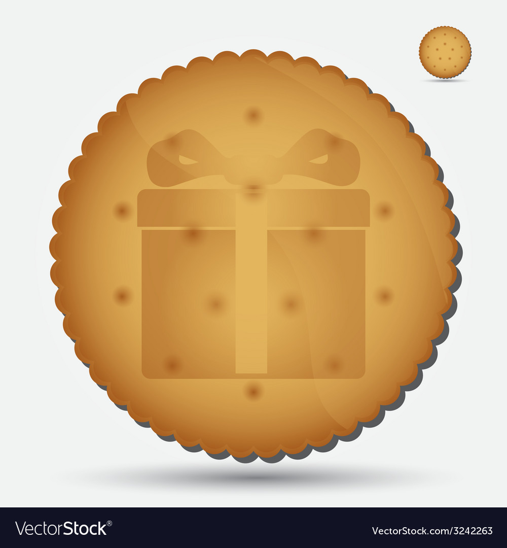 Christmas brown biscuit with gift symbol eps10 vector | Price: 1 Credit (USD $1)