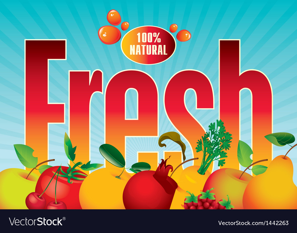 Fresh fruit vector | Price: 1 Credit (USD $1)