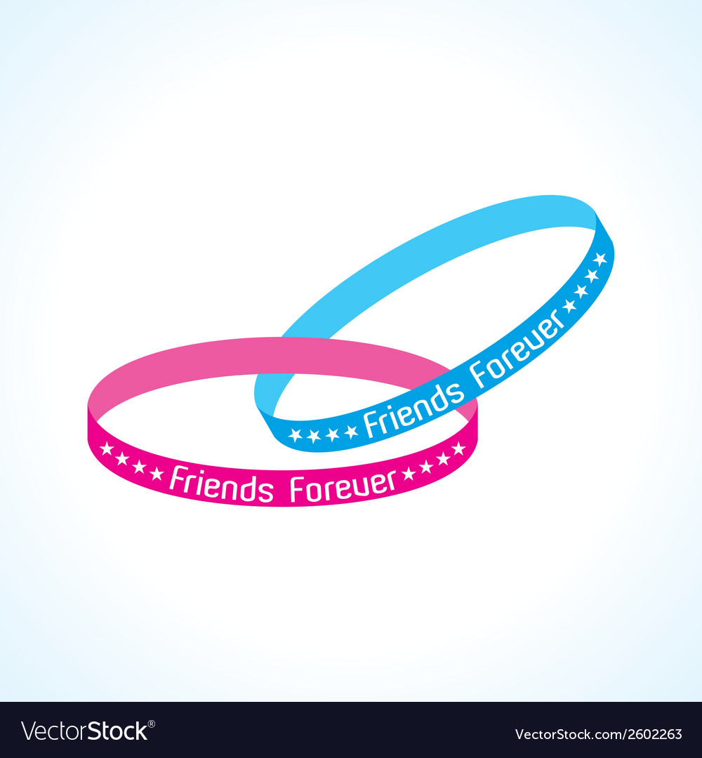 Happy friendship day greeting card vector | Price: 1 Credit (USD $1)