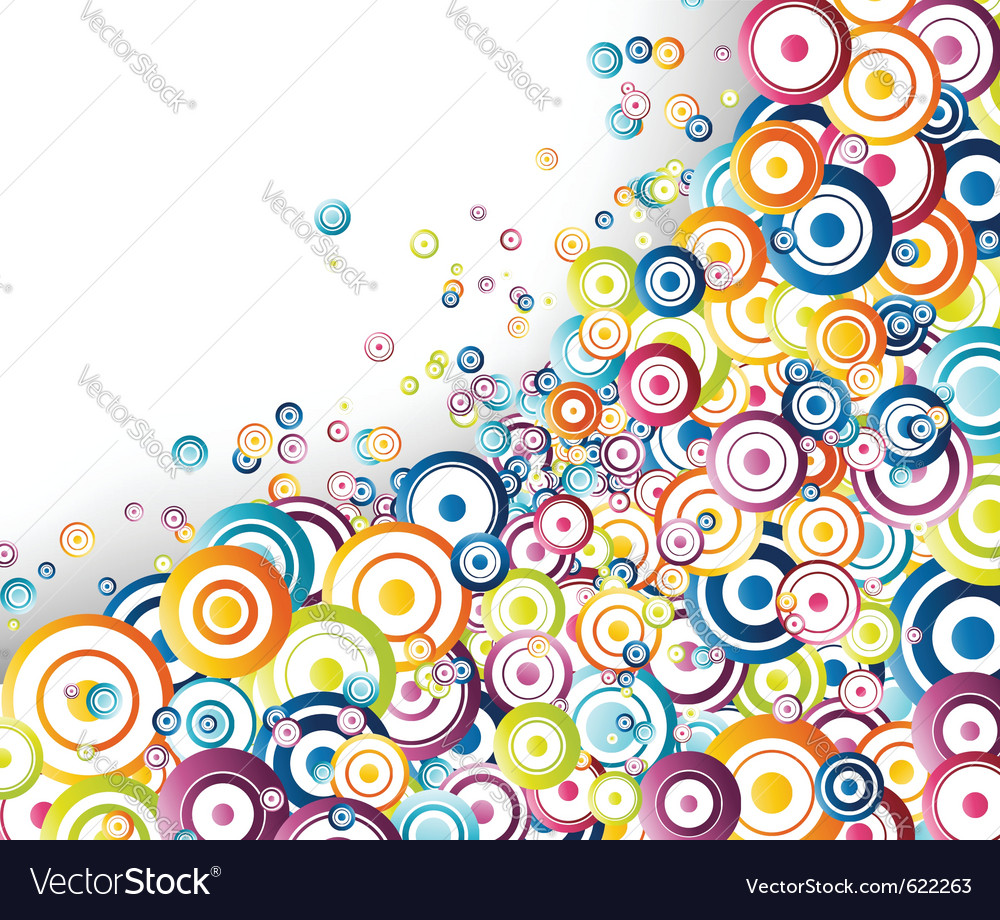 Rainbow circles stream vector | Price: 1 Credit (USD $1)