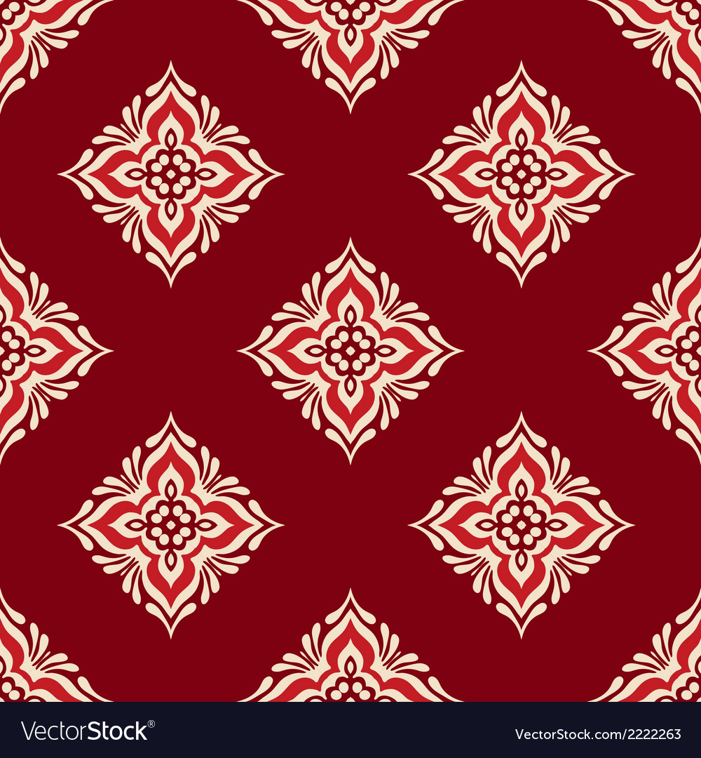 Red geometric seamless design vector | Price: 1 Credit (USD $1)