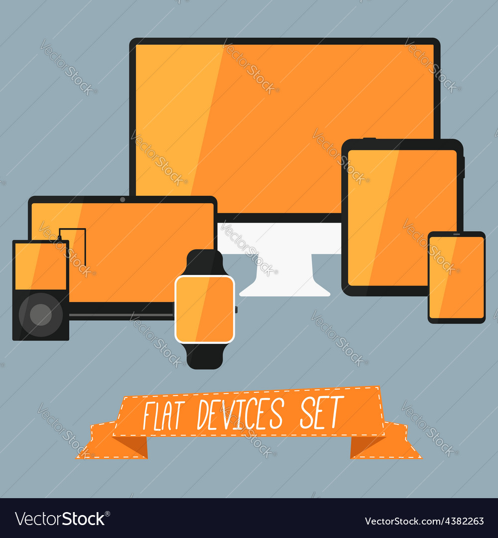 Set of modern user interface - digital tablet vector | Price: 1 Credit (USD $1)