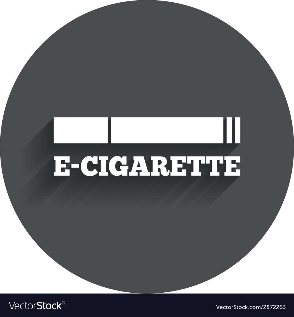 Smoking sign icon e-cigarette symbol vector   Price: 1 Credit (USD $1)