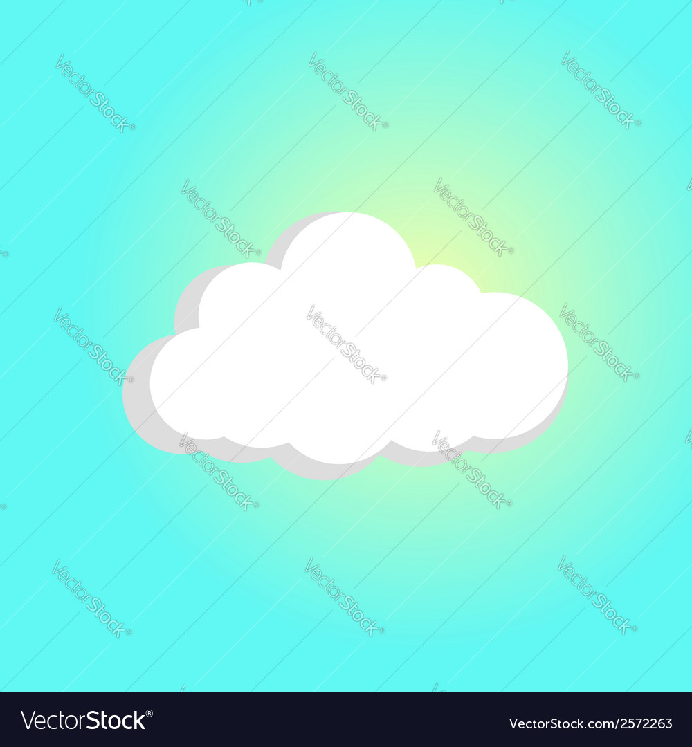 Sun breaks through the cloud vector   Price: 1 Credit (USD $1)