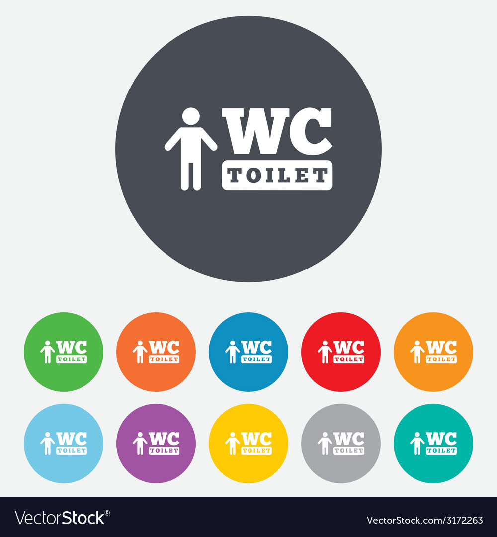 Wc men toilet sign icon restroom symbol vector | Price: 1 Credit (USD $1)