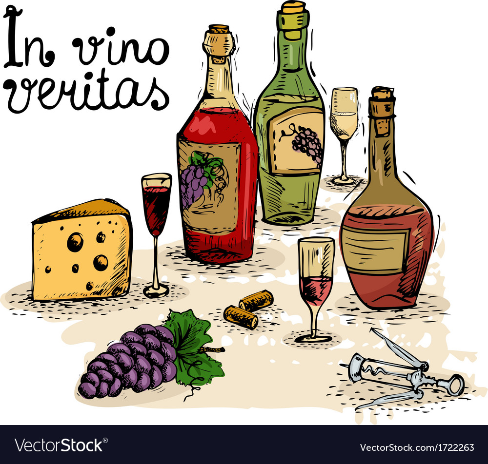 Wine still life vector | Price: 1 Credit (USD $1)