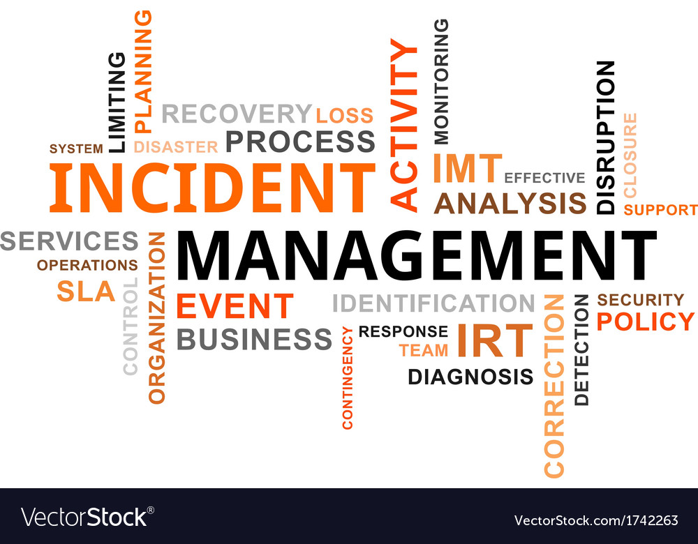 Word cloud incident management vector | Price: 1 Credit (USD $1)
