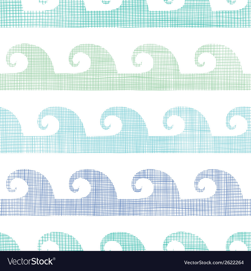 Abstract textile waves stripes seamless pattern vector | Price: 1 Credit (USD $1)