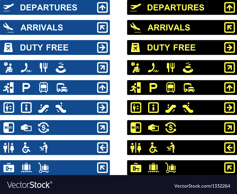 Airport terminal banners vector | Price: 1 Credit (USD $1)