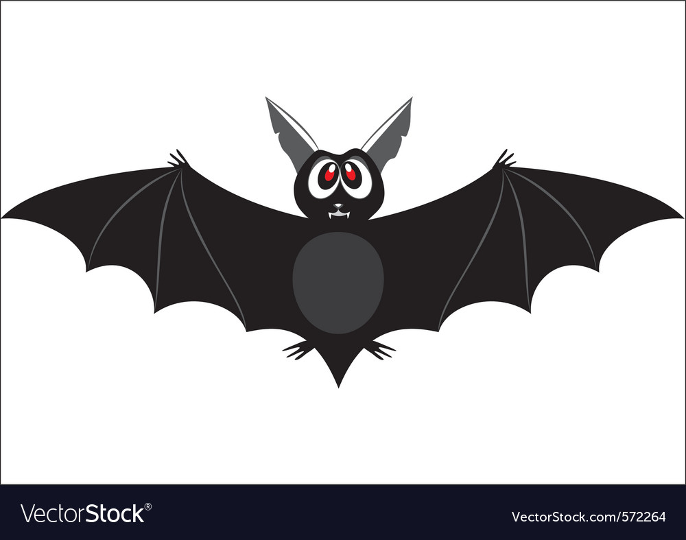 Bat cartoon vector | Price: 1 Credit (USD $1)