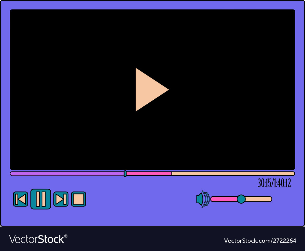 Colorful video player vector | Price: 1 Credit (USD $1)