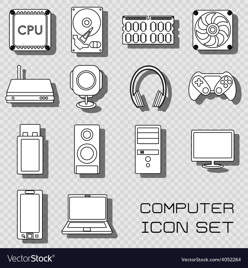 Computer icons vector   Price: 1 Credit (USD $1)