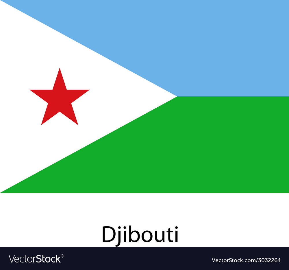 Flag of the country djibouti vector | Price: 1 Credit (USD $1)