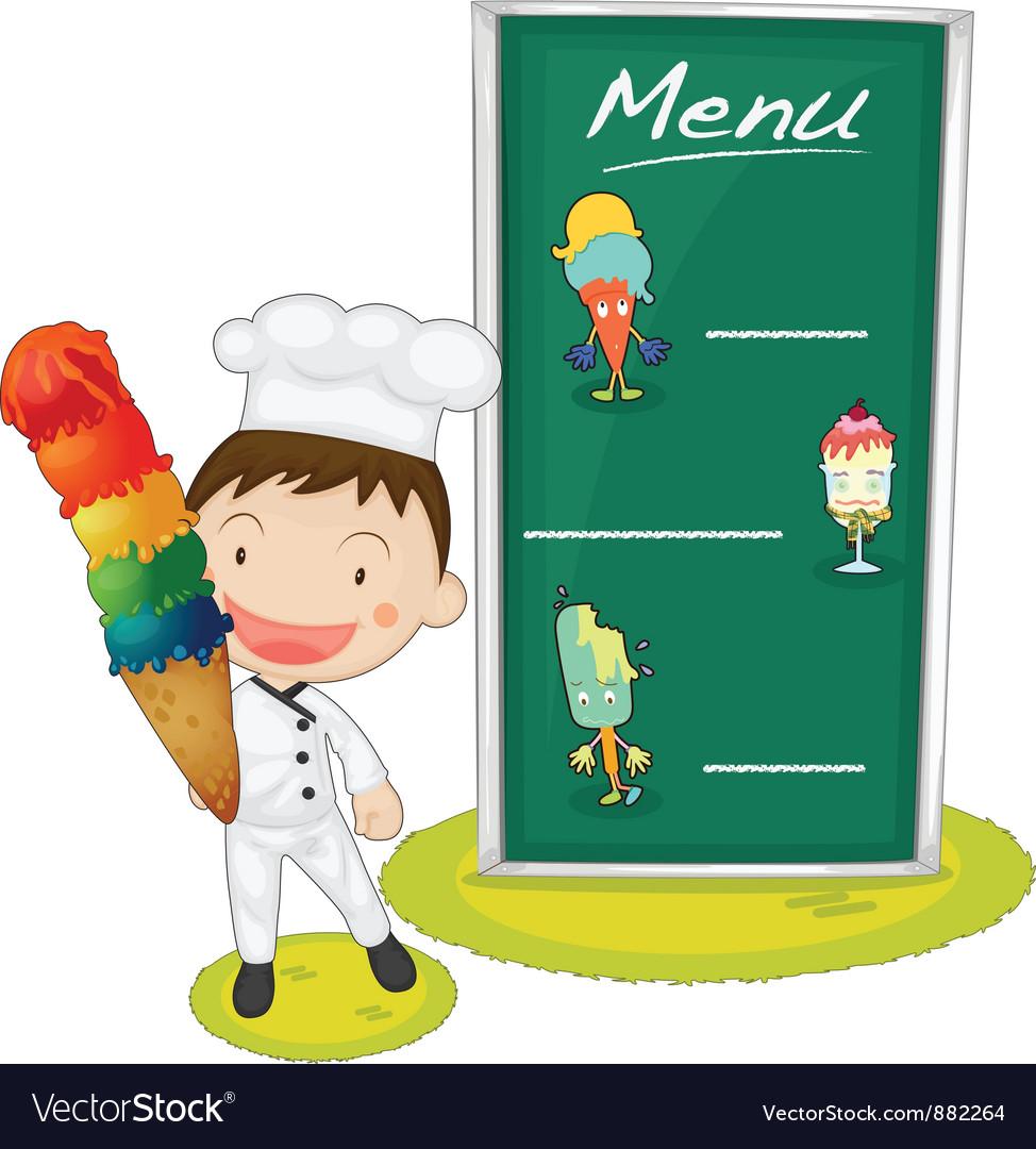 Ice cream menu vector | Price: 5 Credit (USD $5)