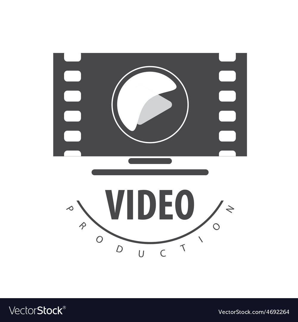Logo to view the video on a monitor vector | Price: 1 Credit (USD $1)