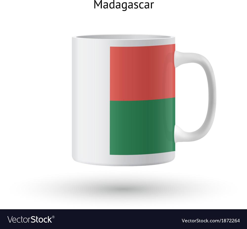 Madagascar flag souvenir mug on white background vector | Price: 1 Credit (USD $1)