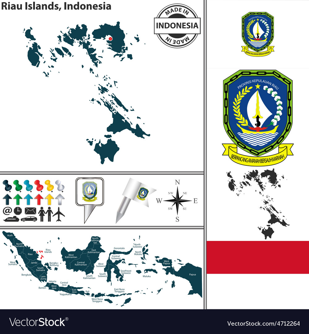 Map of riau islands vector | Price: 1 Credit (USD $1)