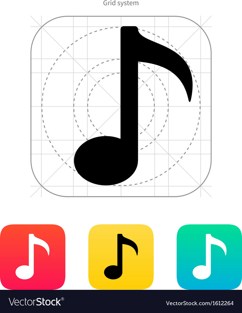 Musical note icon vector | Price: 1 Credit (USD $1)
