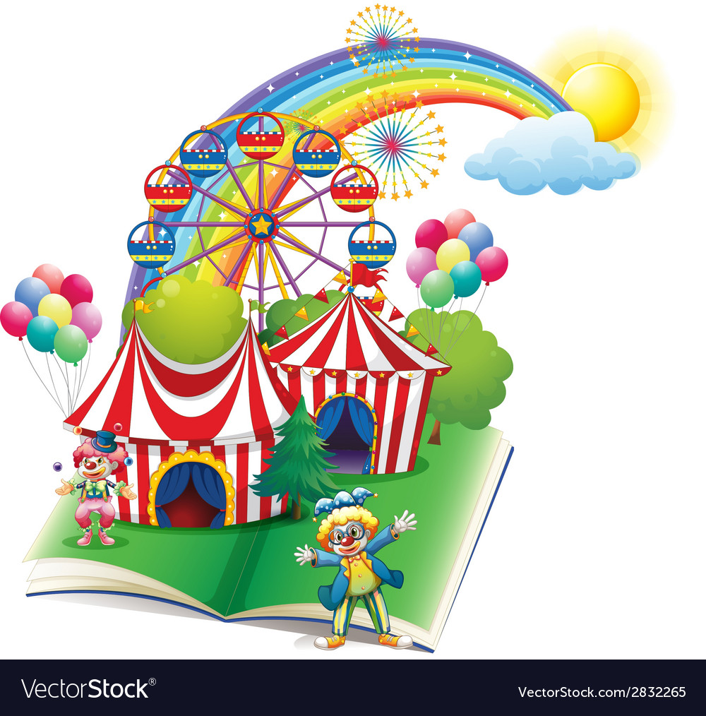 A storybook about the carnival vector | Price: 1 Credit (USD $1)