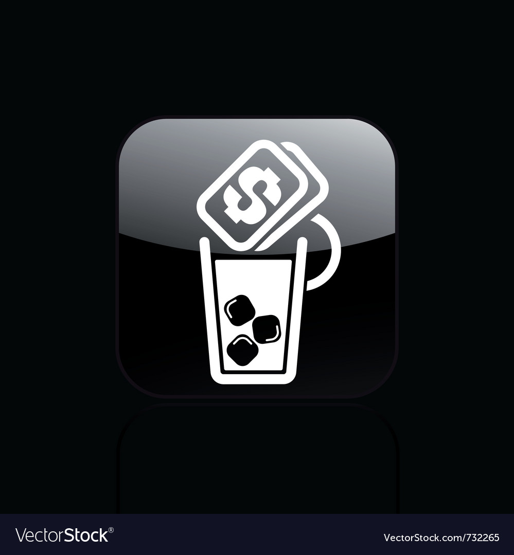 Drink price icon vector | Price: 1 Credit (USD $1)