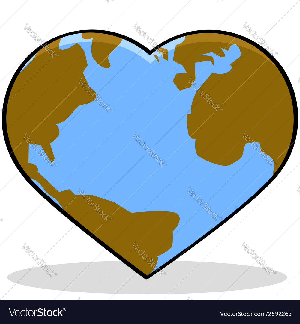 Love the earth vector | Price: 1 Credit (USD $1)