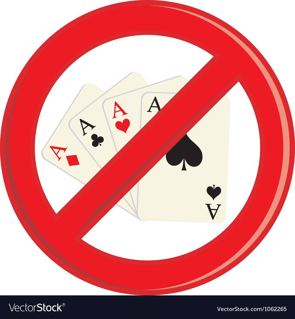 No gambling cards vector | Price: 1 Credit (USD $1)