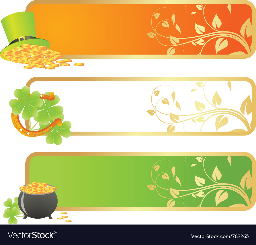 St patricks day banners vector | Price: 1 Credit (USD $1)