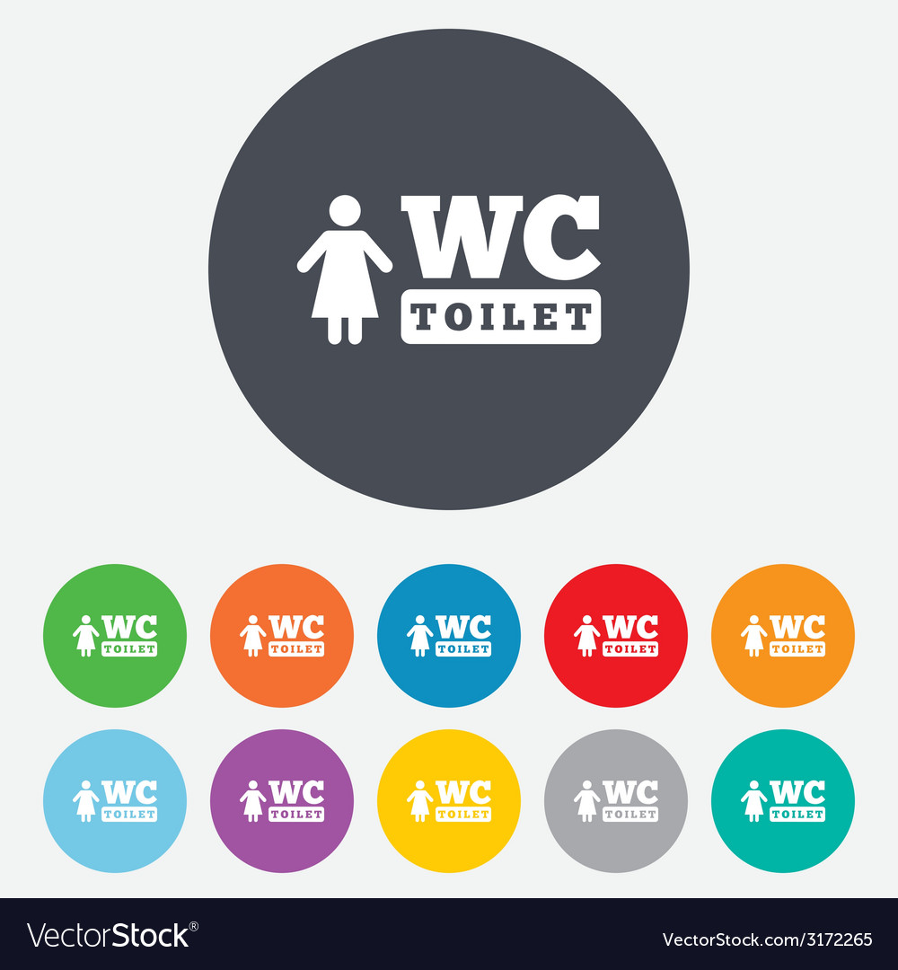 Wc women toilet sign icon restroom symbol vector | Price: 1 Credit (USD $1)