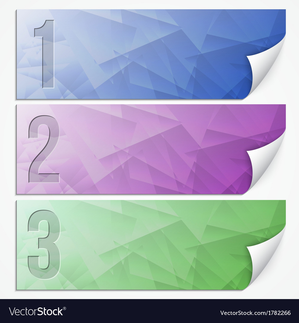 Abstract presentation paper banner set vector | Price: 1 Credit (USD $1)