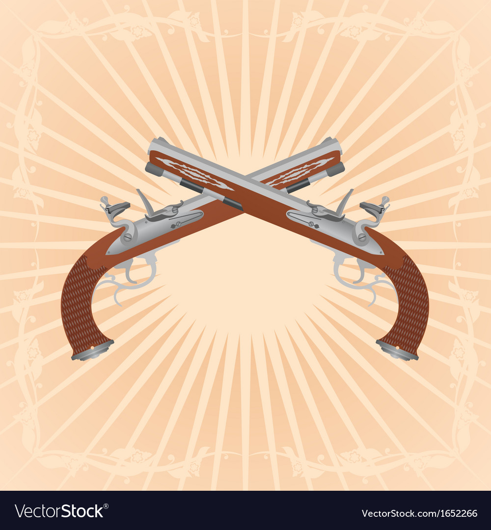 Antique guns vector | Price: 1 Credit (USD $1)