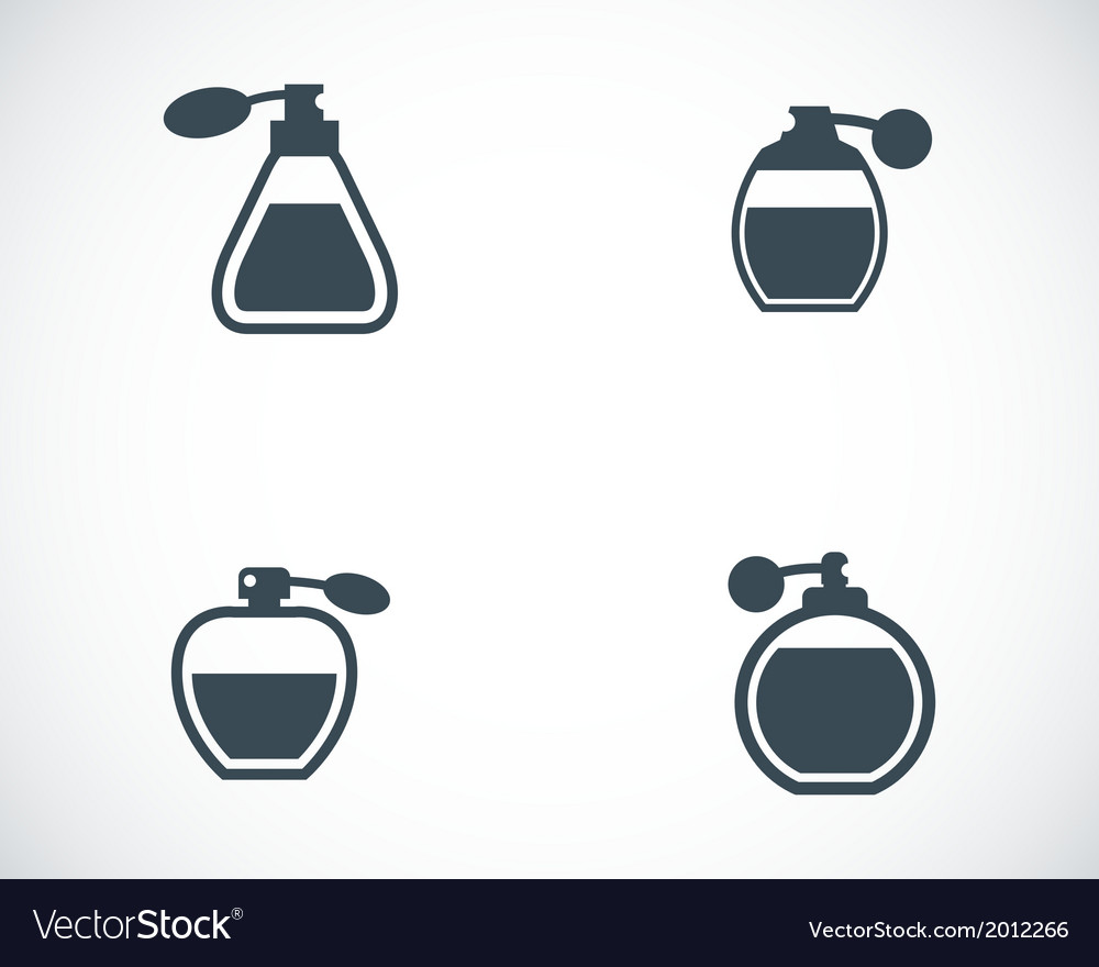 Black perfume icons set vector | Price: 1 Credit (USD $1)