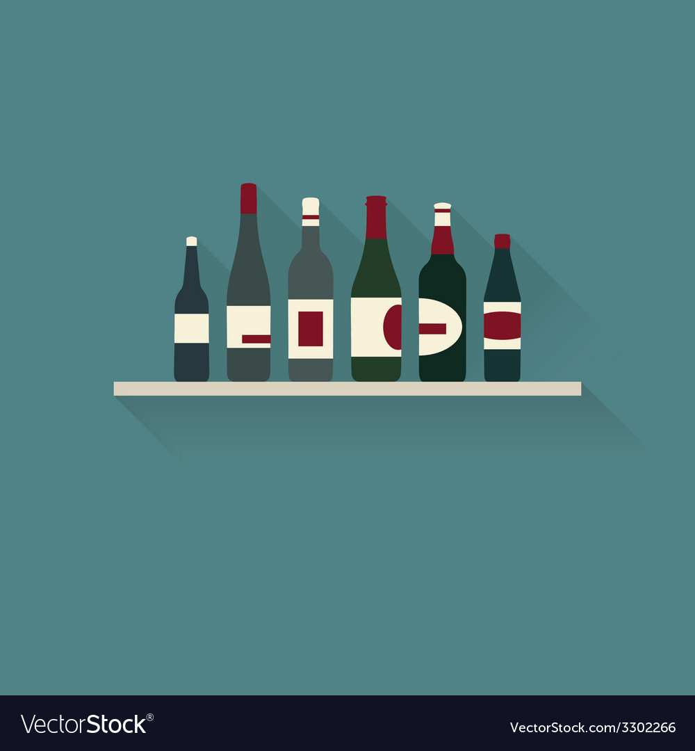 Bottles collection flat vector | Price: 1 Credit (USD $1)