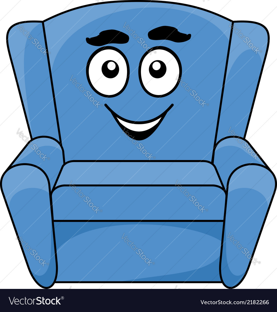Comfortable upholstered blue armchair vector | Price: 1 Credit (USD $1)