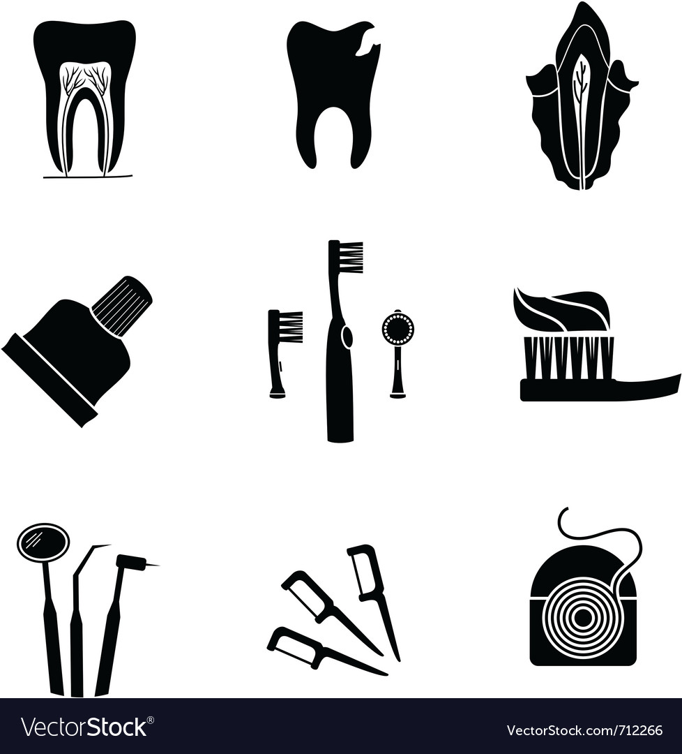 Dentist icons vector | Price: 1 Credit (USD $1)