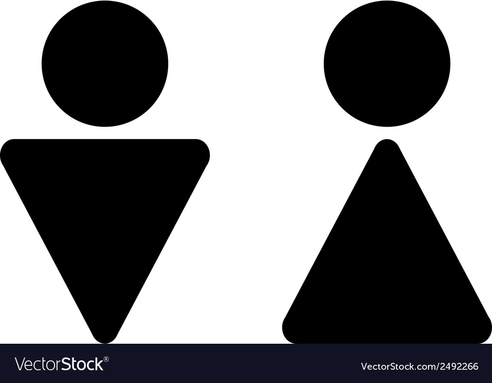 Male and female restroom icons vector | Price: 1 Credit (USD $1)