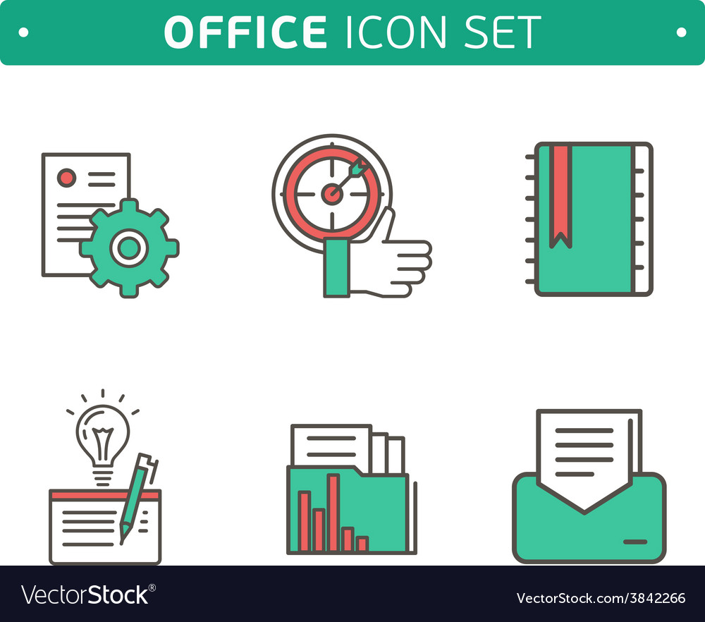 Marketing strategy icons simple glyph style icons vector | Price: 1 Credit (USD $1)