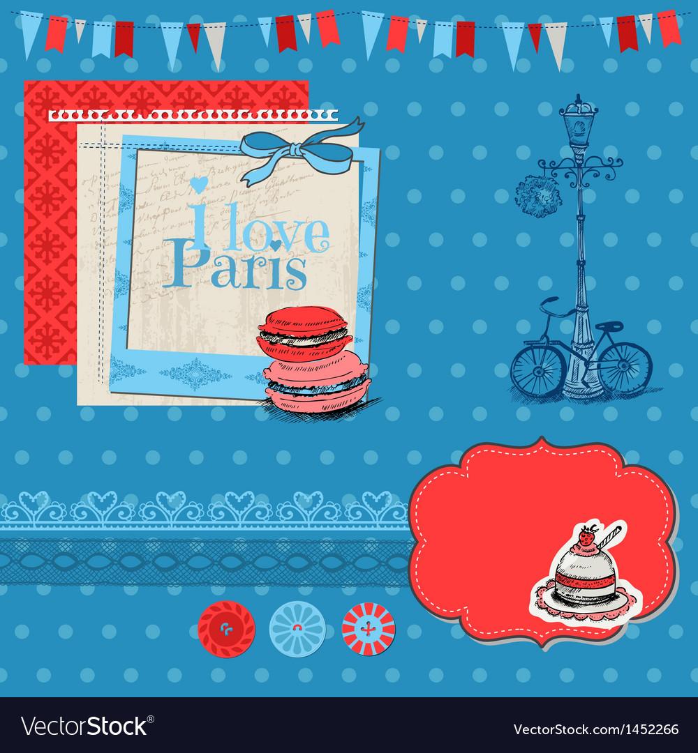 Paris vintage set vector | Price: 1 Credit (USD $1)