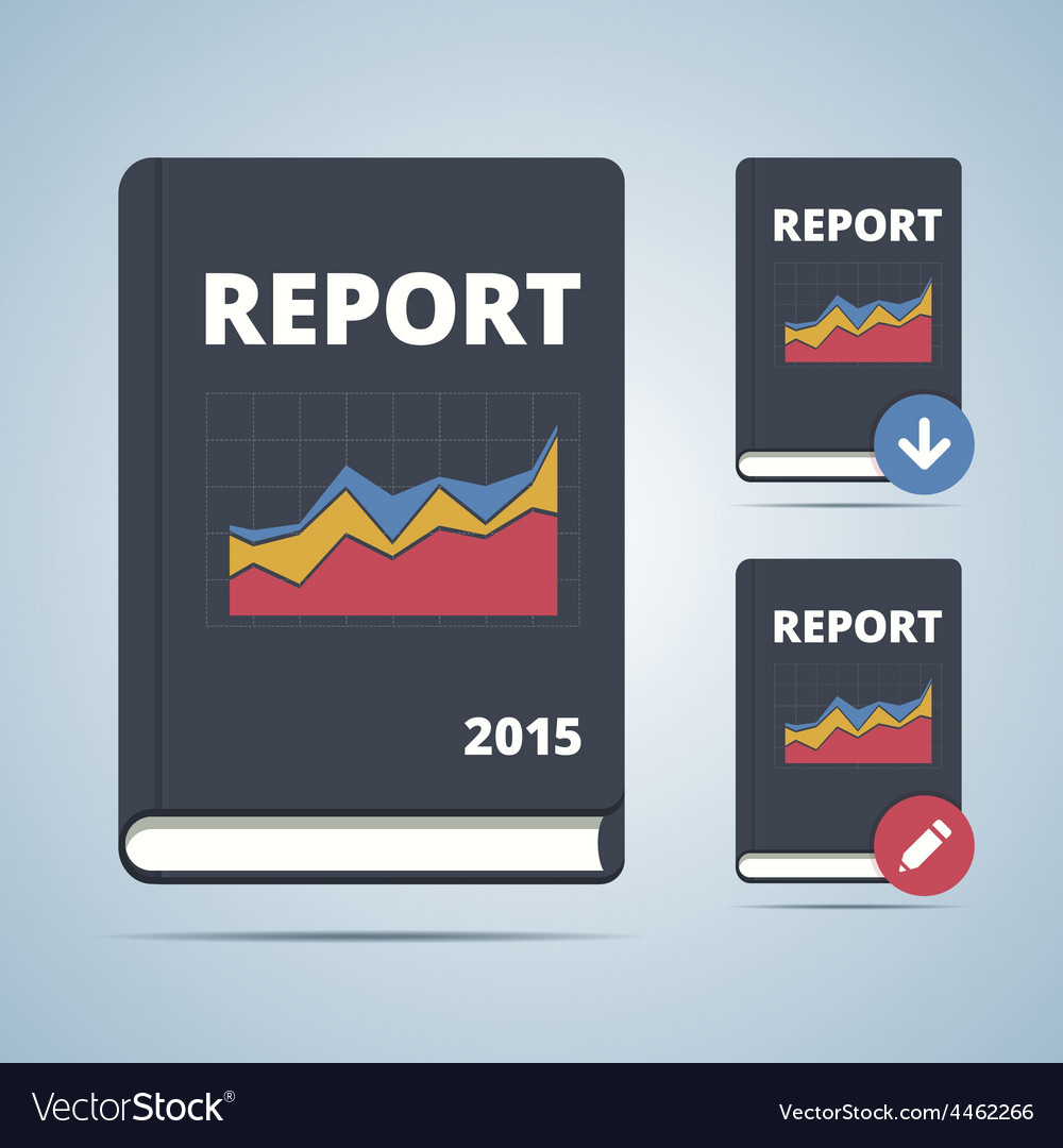 Report icon book vector | Price: 1 Credit (USD $1)