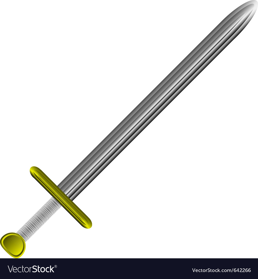 Steel sword on white vector | Price: 1 Credit (USD $1)