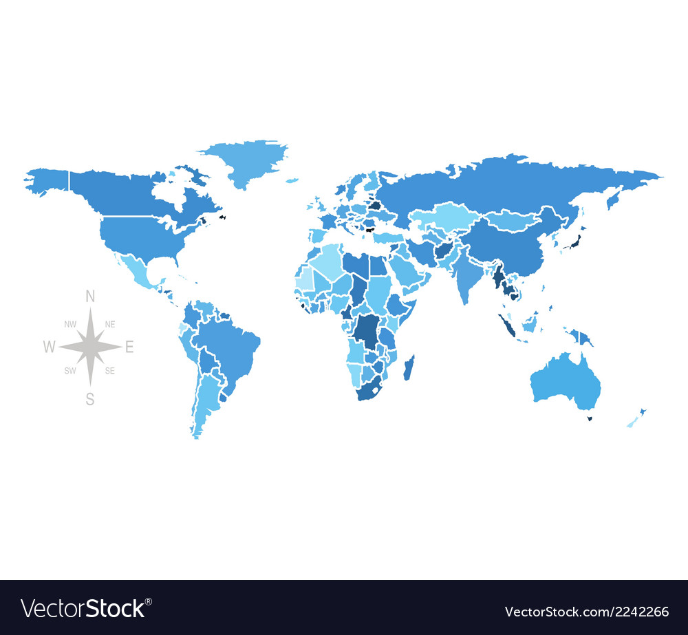 World map free stock image vector | Price: 1 Credit (USD $1)