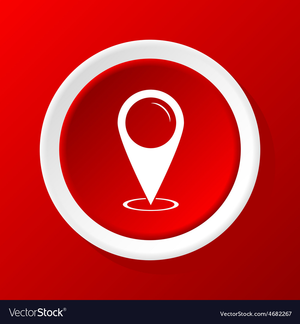 Area pointer icon on red vector | Price: 1 Credit (USD $1)