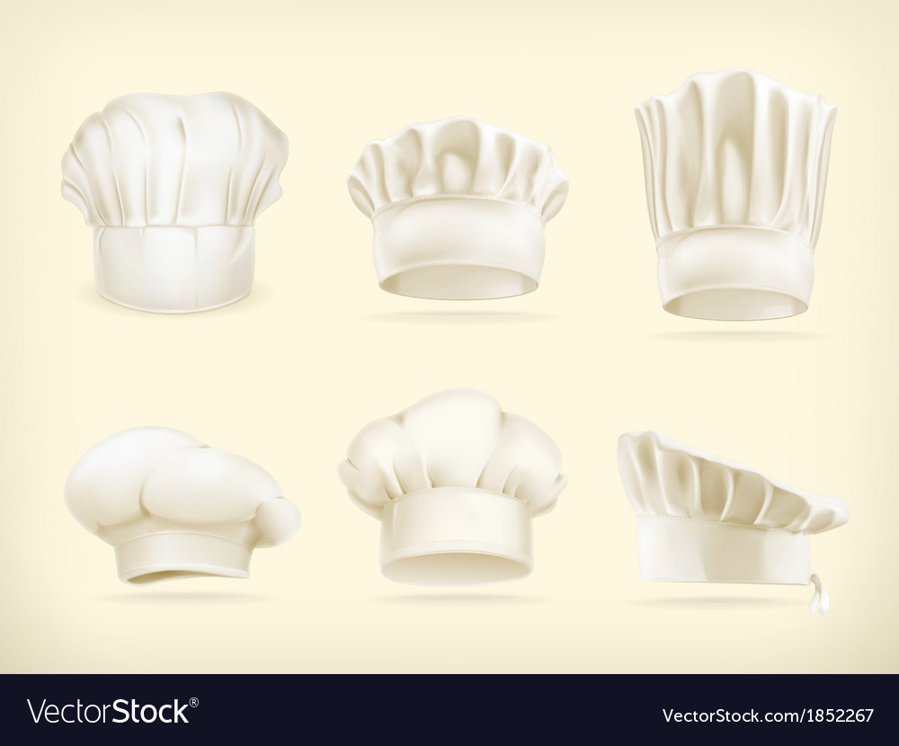 Chef hats set vector | Price: 1 Credit (USD $1)