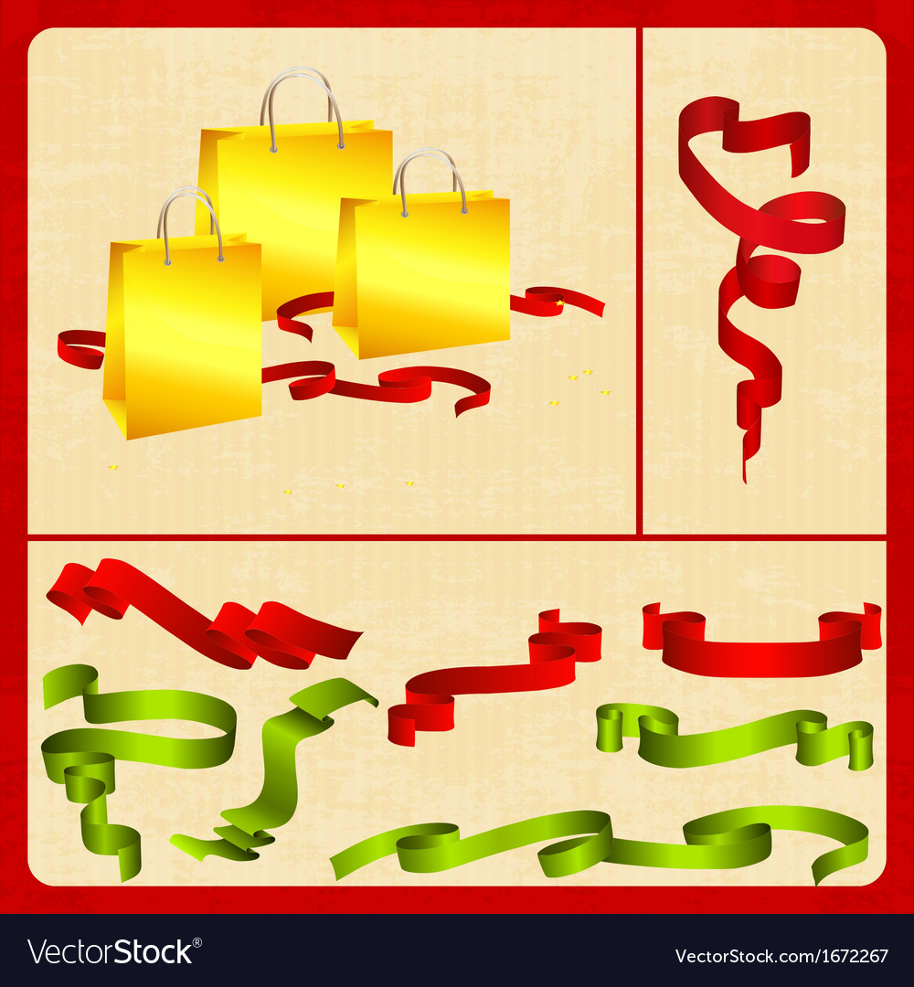 Festive set packing tape plus vector | Price: 1 Credit (USD $1)