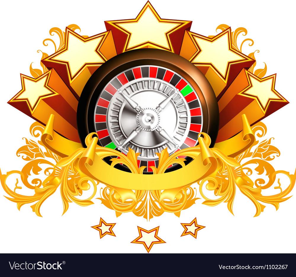 Roulette insignia vector | Price: 1 Credit (USD $1)